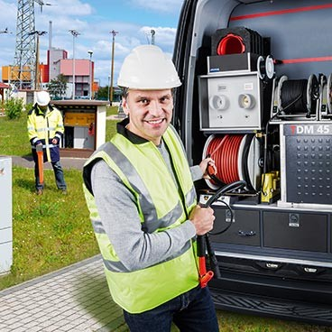 Test van systems for cable fault location